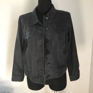 Linden Hill 100% Linen Black Jacket sz L
